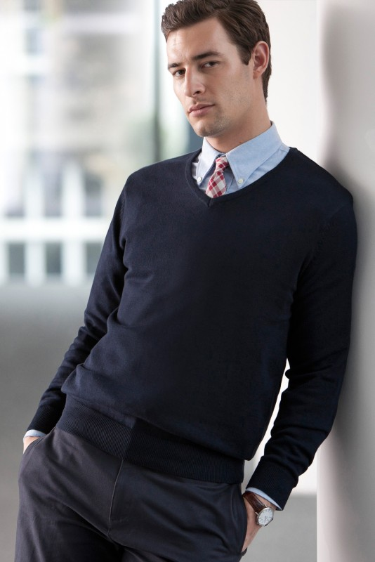 henbury mens lightweight v neck jumper pullover v ausschnitt herren. Black Bedroom Furniture Sets. Home Design Ideas